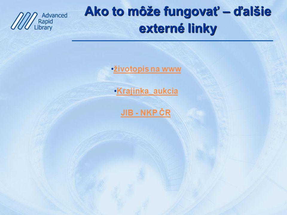 Ako to môže fungovať – ďalšie externé linky životopis na www Krajinka_aukcia JIB - NKP ČR
