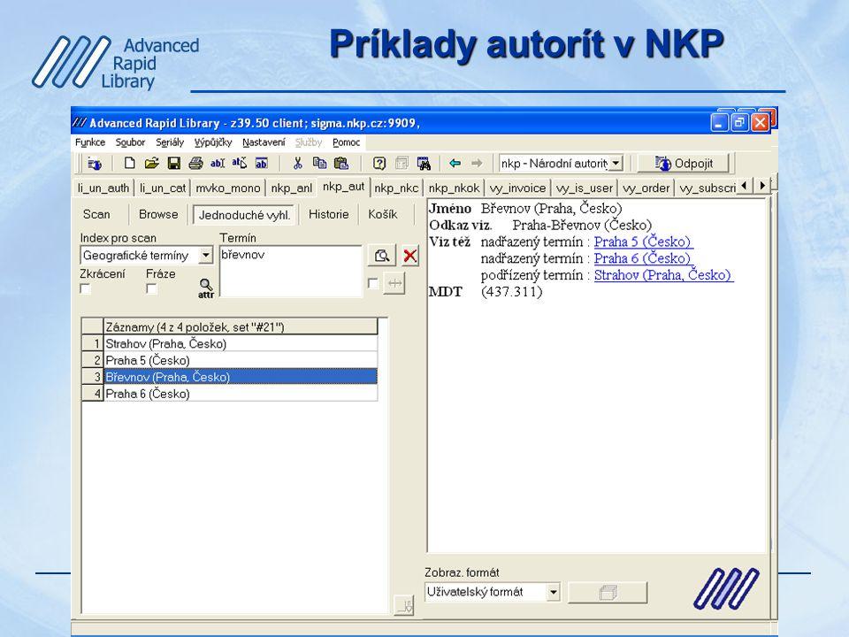 Príklady autorít v NKP
