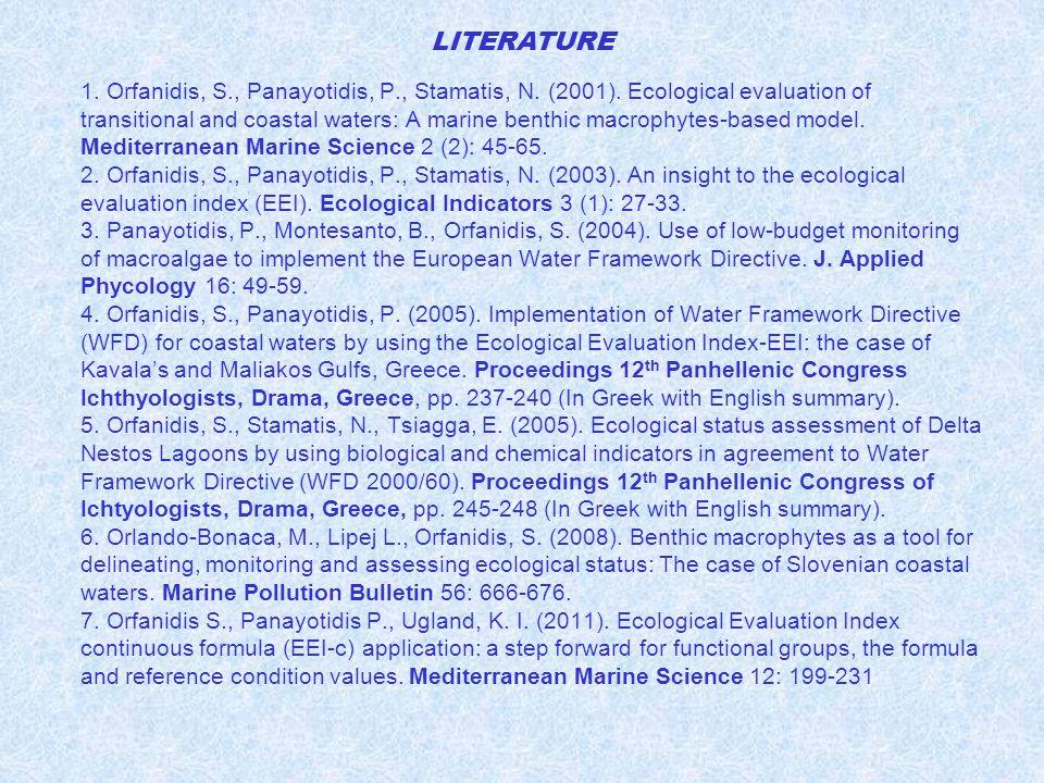 1. Orfanidis, S., Panayotidis, P., Stamatis, N. (2001).