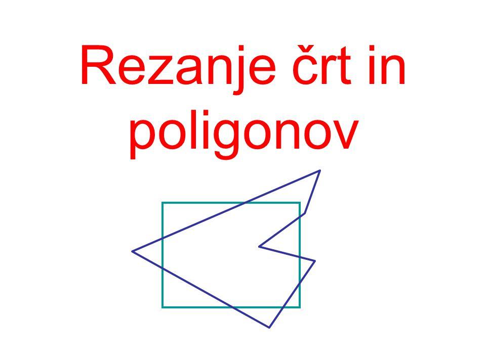 Rezanje črt in poligonov