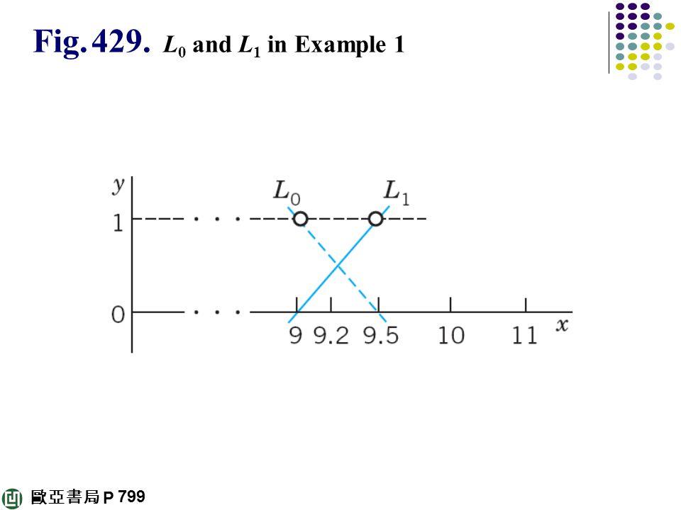 歐亞書局 P Fig. 429. L 0 and L 1 in Example 1 799