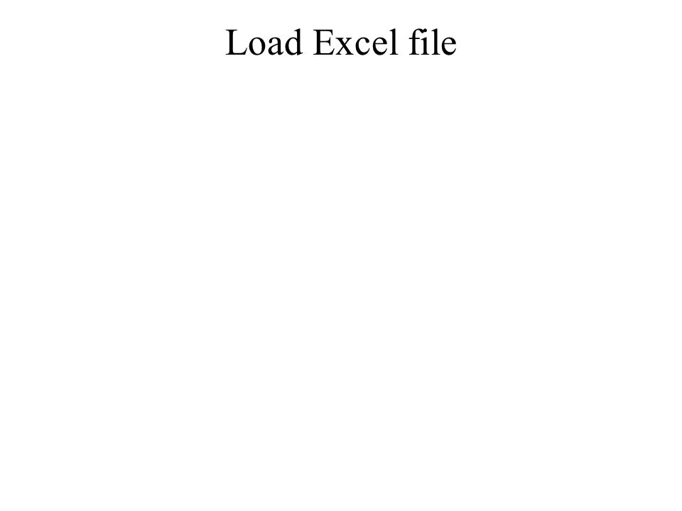 Load Excel file