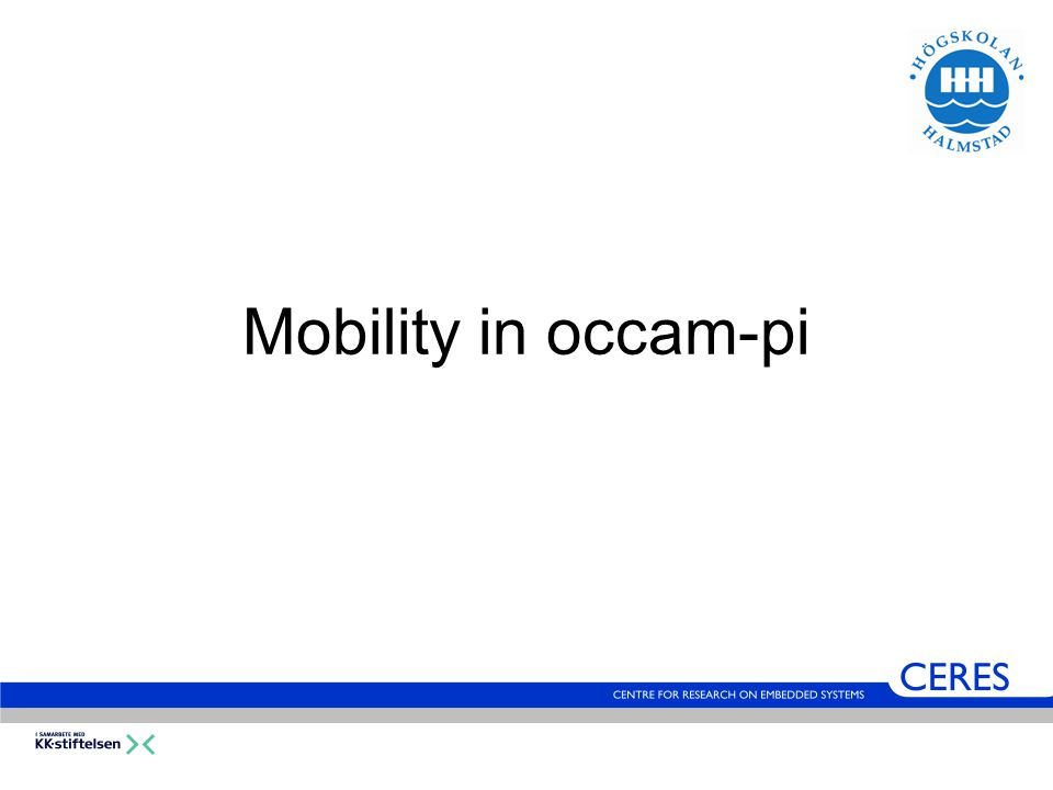 Mobility in occam-pi