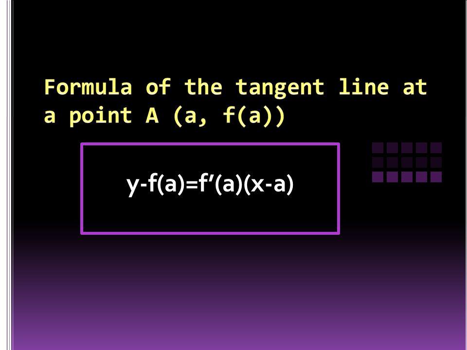 y-f(a)=f'(a)(x-a)