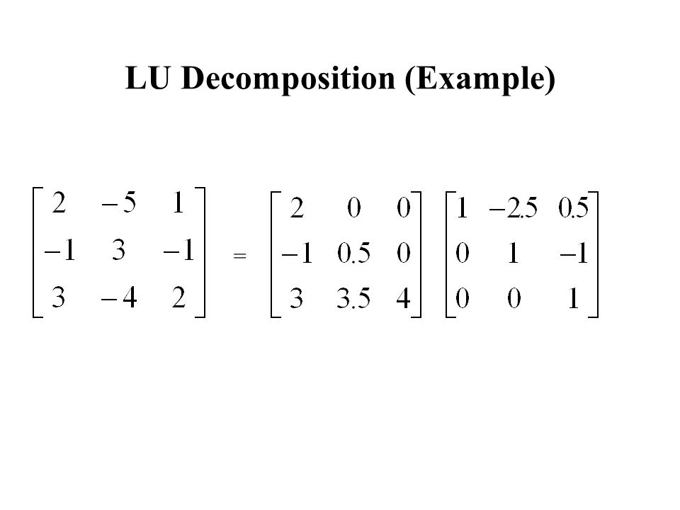 LU Decomposition (Example) =