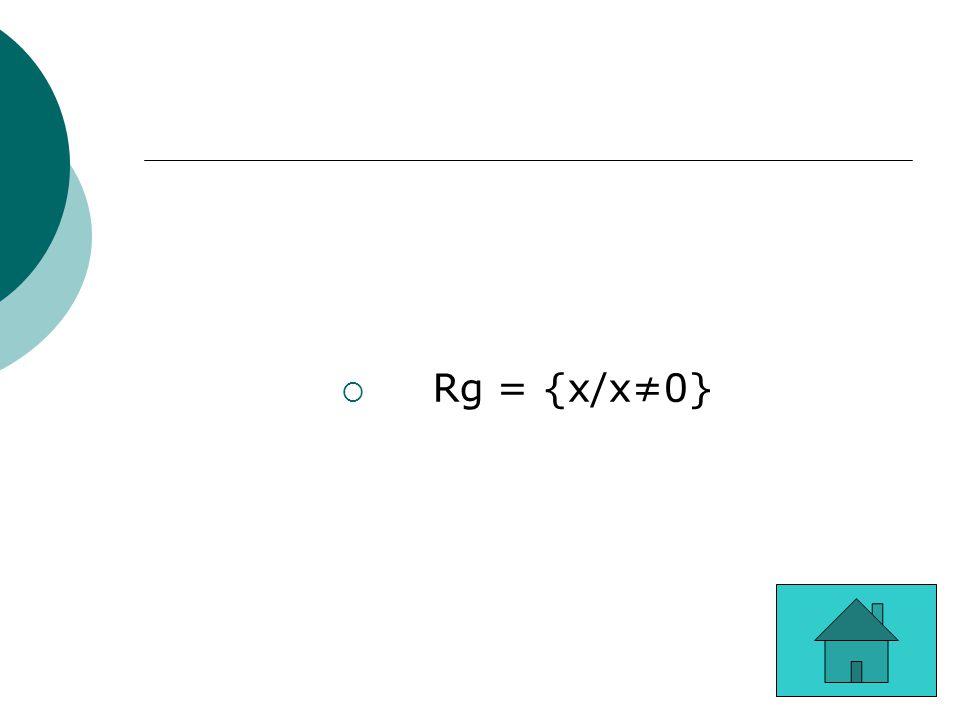 Rg = {x/x≠0}