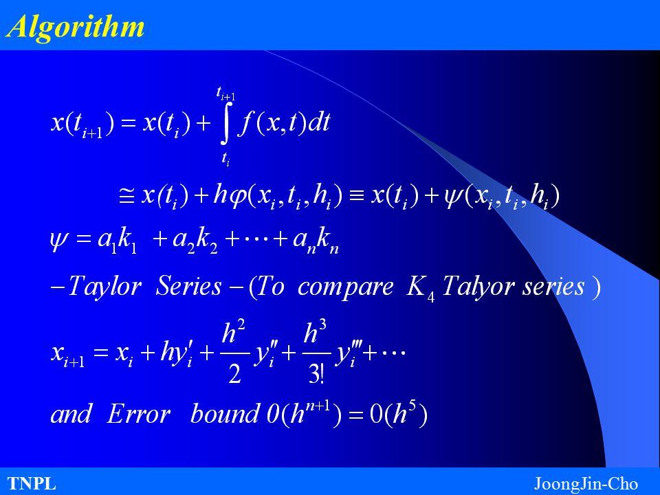 TNPL JoongJin-Cho Algorithm
