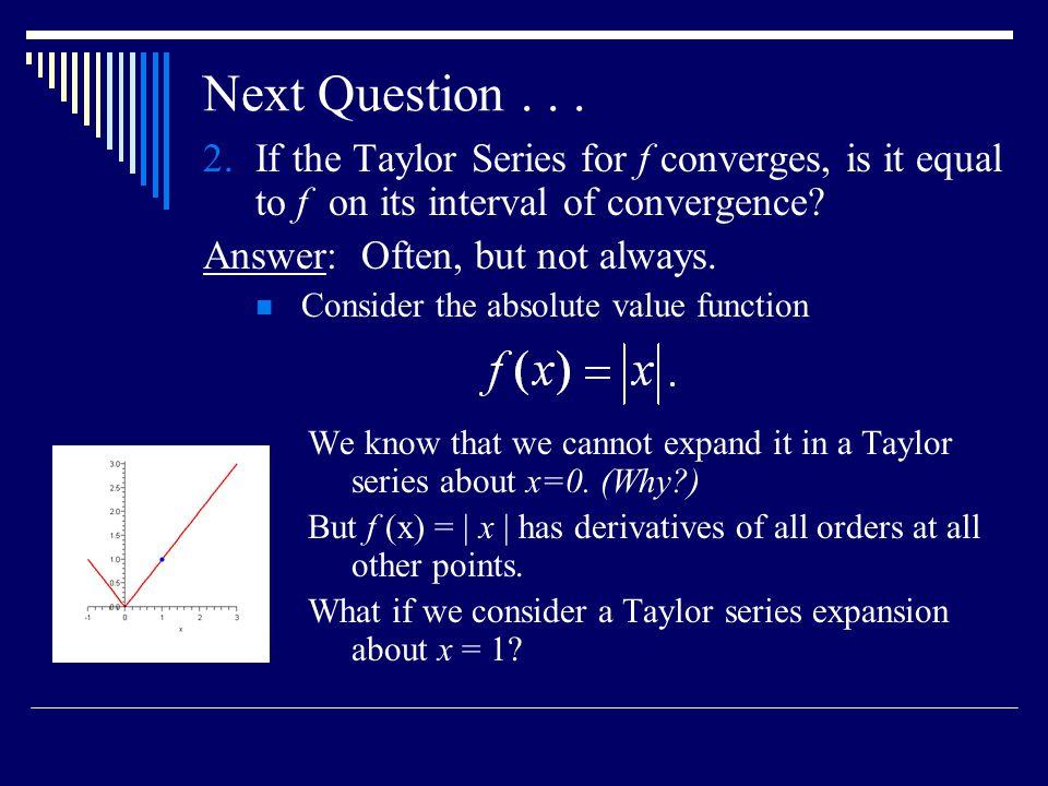 Next Question...