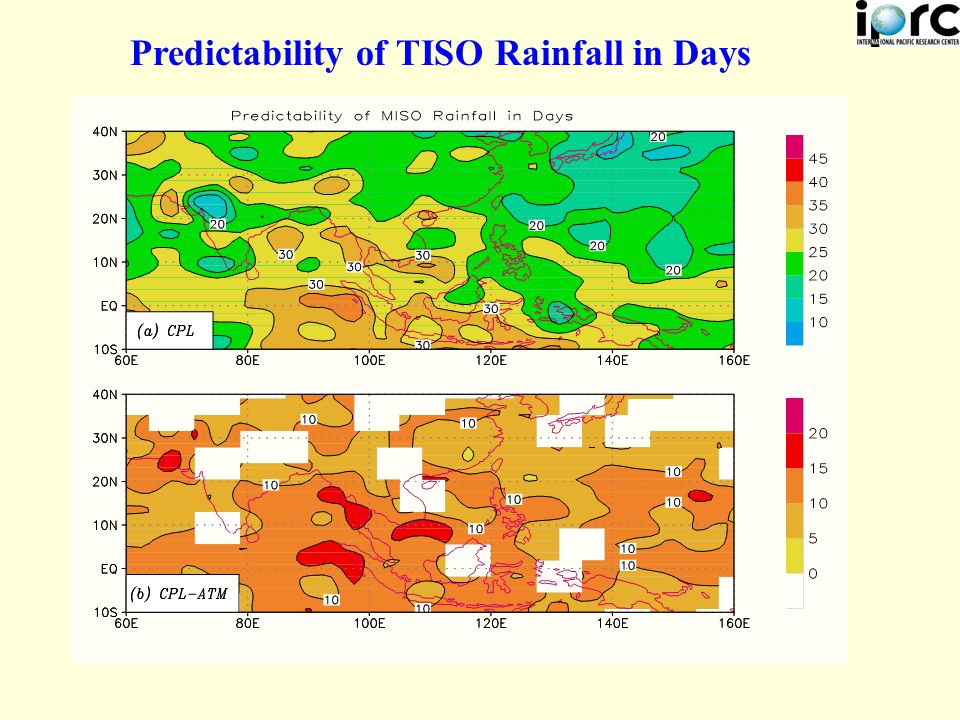 Predictability of TISO Rainfall in Days