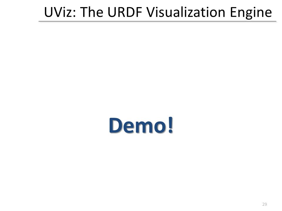 UViz: The URDF Visualization Engine Demo! 29