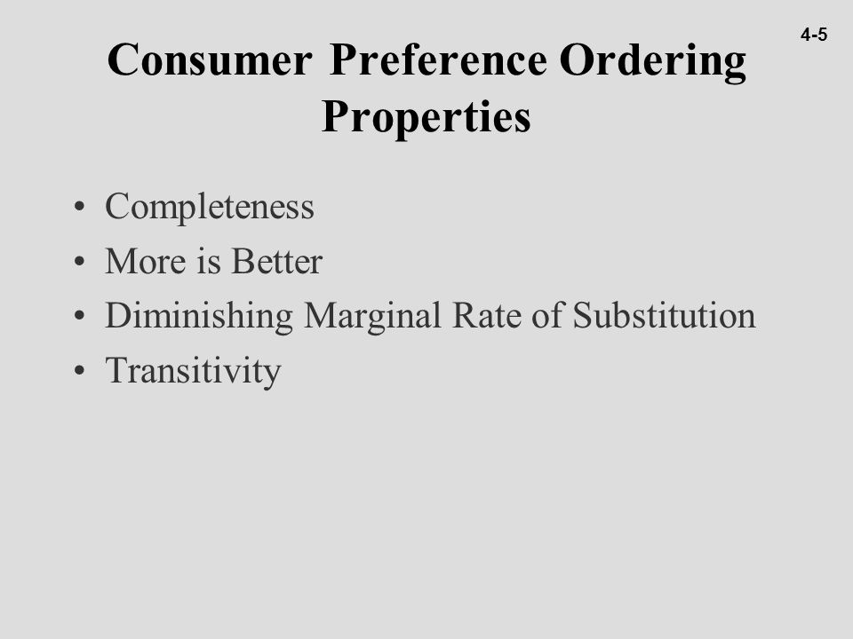 Income Changes and Consumer Equilibrium Normal Goods n Good X is a normal good if an increase (decrease) in income leads to an increase (decrease) in its consumption.