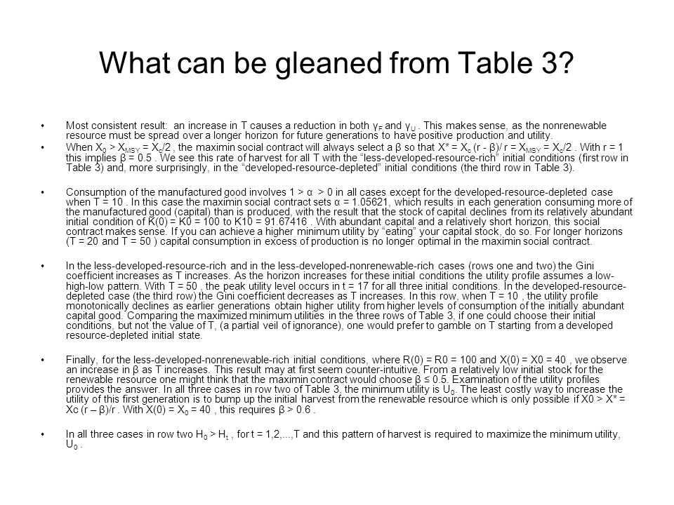 What can be gleaned from Table 3.