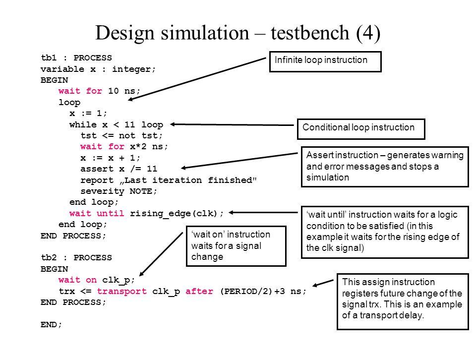 Design simulation – testbench (5)