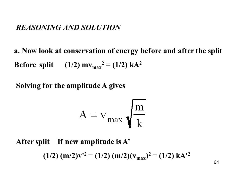 64 REASONING AND SOLUTION a.