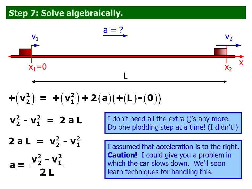 Step 7: Solve algebraically. I don't need all the extra ()'s any more.