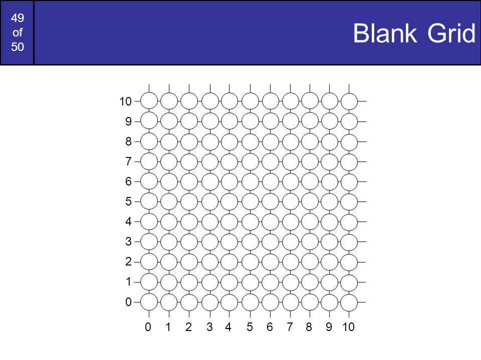 49 of 50 Blank Grid 9 7 6 5 4 3 2 1 0 8 976543210810