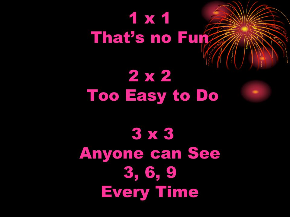 4 x 4 Say No More Cause Double Double that's no Trouble First Double is 8 Next Double 16 4 x 4 16 Roll them 4s… 4, 8, 12, 16, 20 24, 28, 32, 36, 40