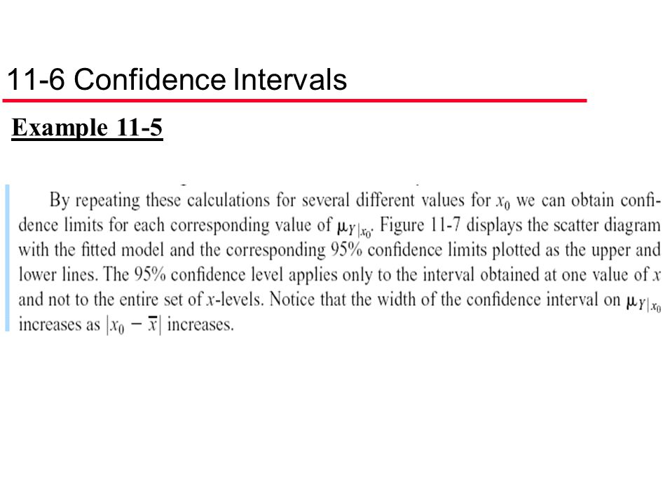 11-6 Confidence Intervals Example 11-5