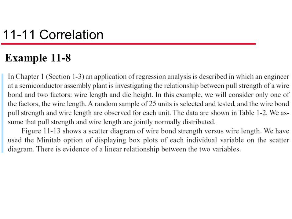 11-11 Correlation Example 11-8