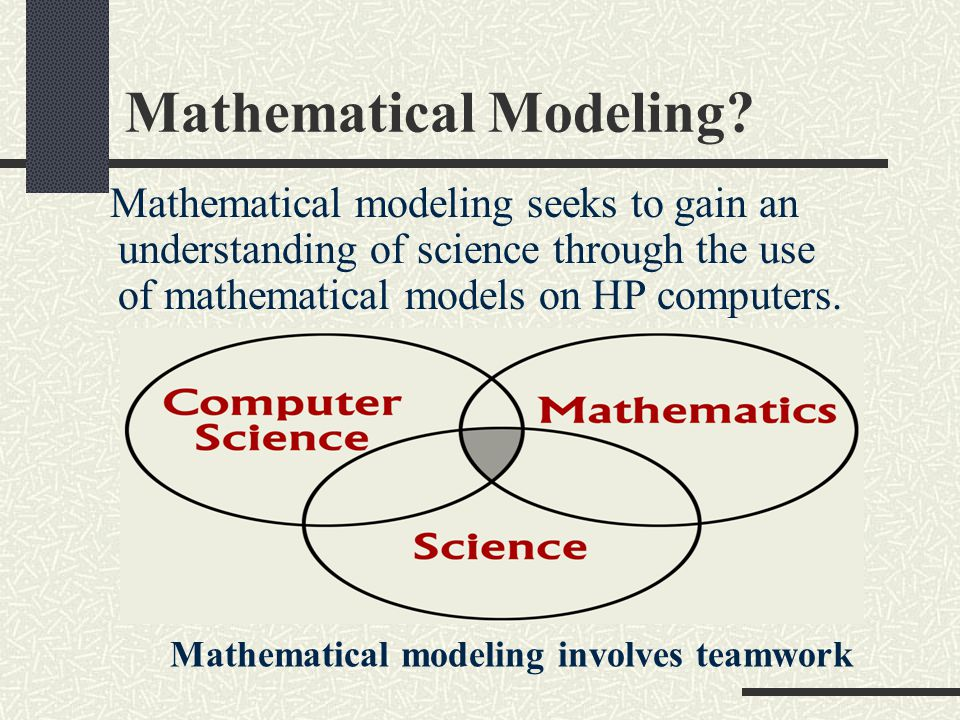 Mathematical Modeling.