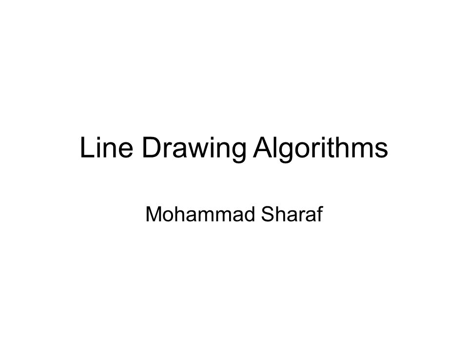 How does computer draw line.
