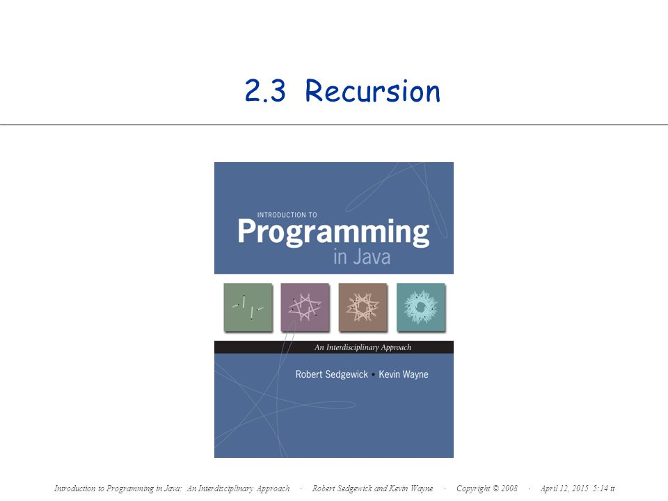 2 Overview What is recursion.When one function calls itself directly or indirectly.