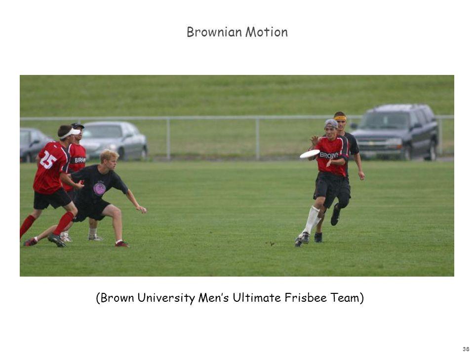 38 Brownian Motion (Brown University Men's Ultimate Frisbee Team)