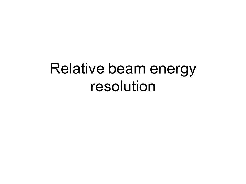 Relative beam energy resolution