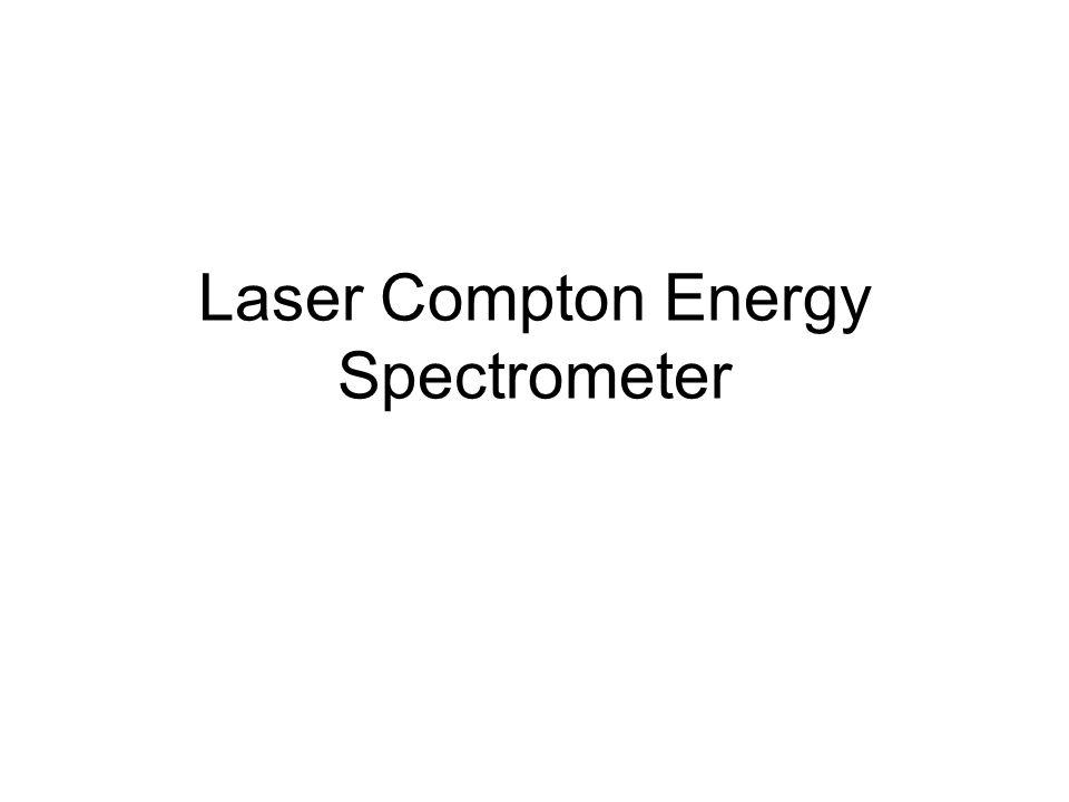 Laser Compton Energy Spectrometer