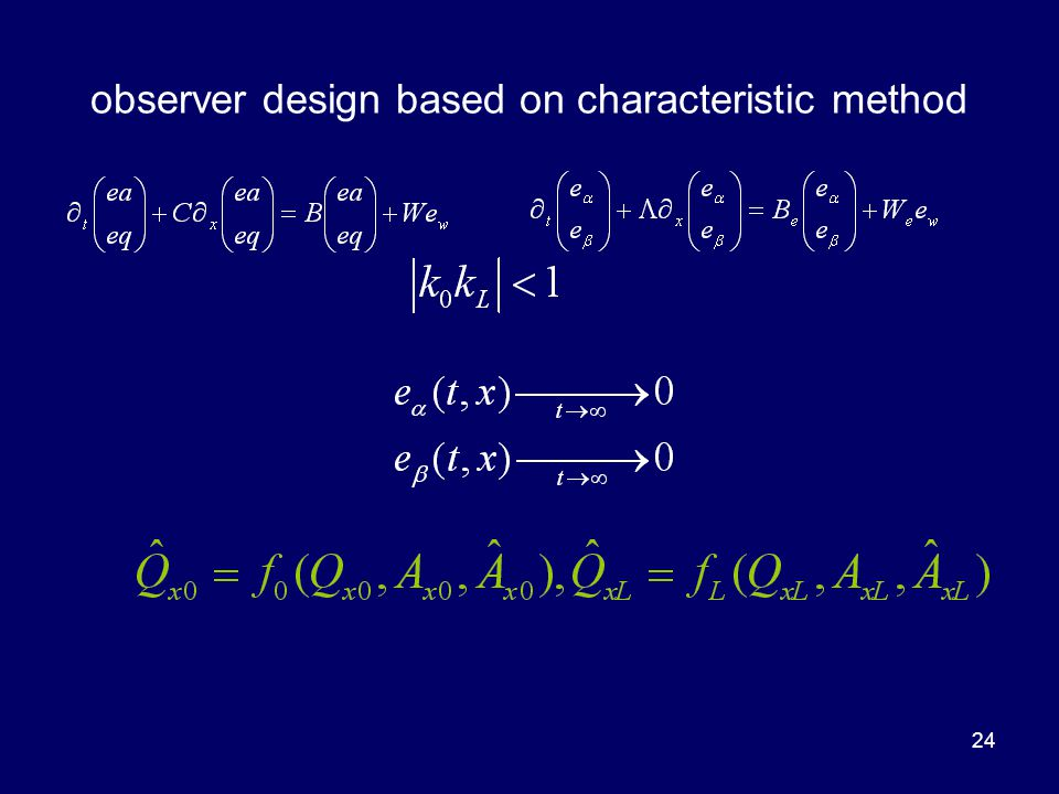 24 observer design based on characteristic method