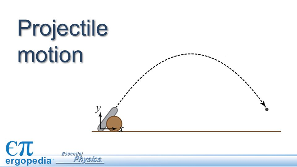 A projectile is an object in motion that is only affected by gravity.