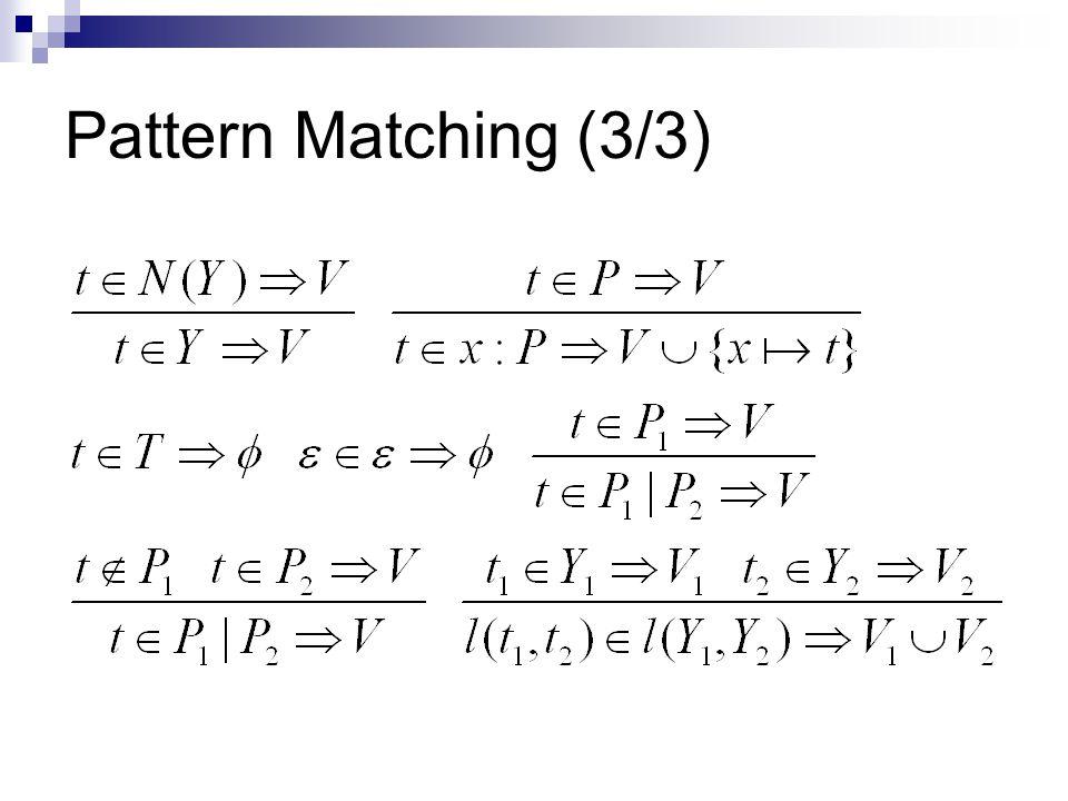 Pattern Matching (3/3)