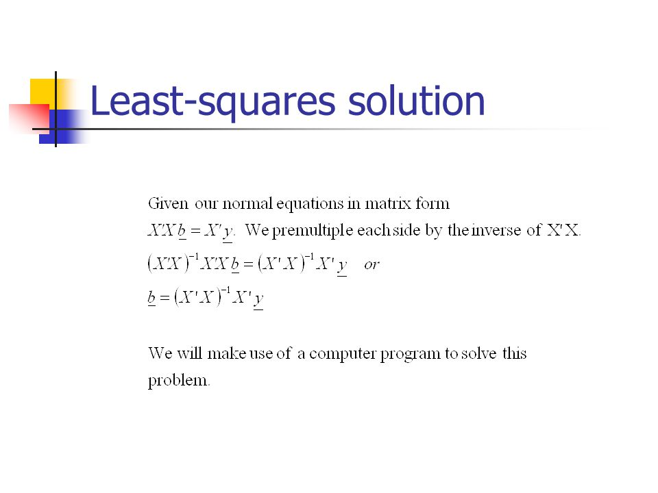 Least-squares solution