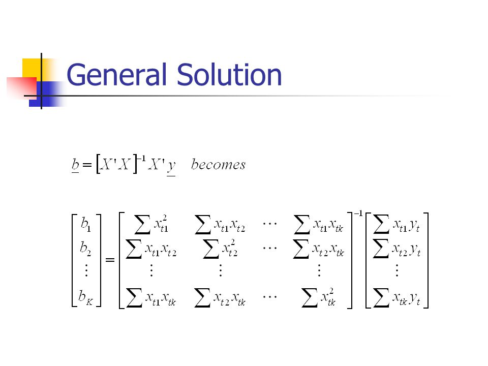 General Solution