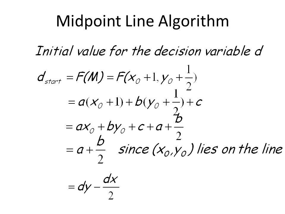 Midpoint Line Algorithm