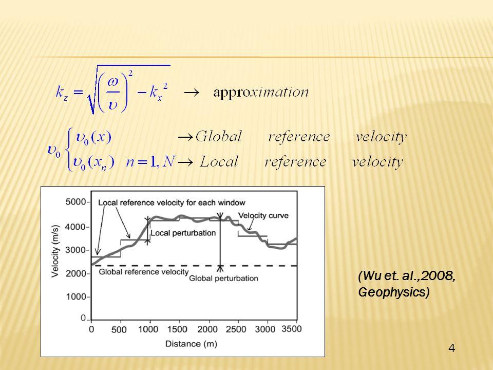 (Wu et. al.,2008, Geophysics) 4