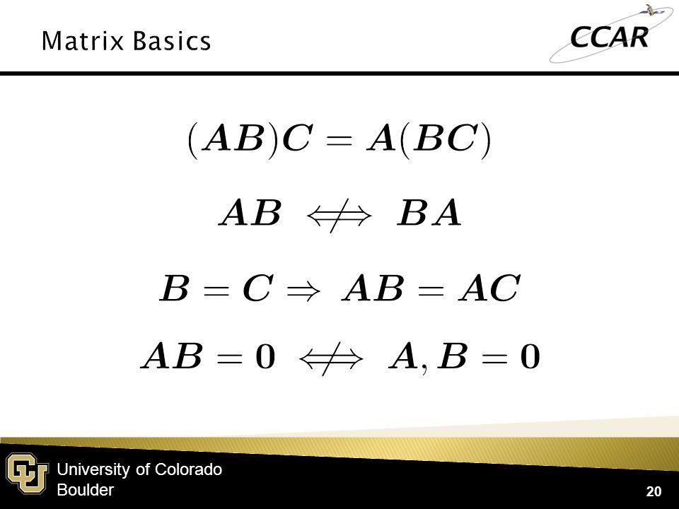 University of Colorado Boulder 20
