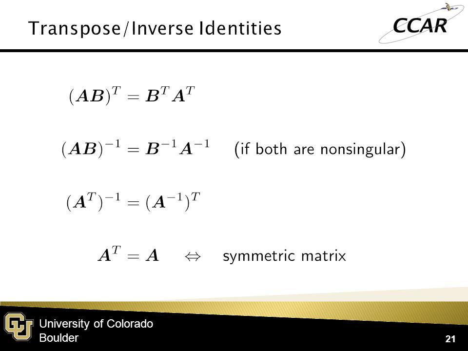 University of Colorado Boulder 21