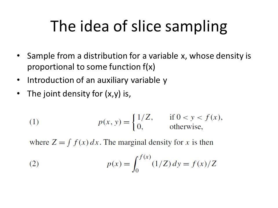 Overrelaxed slice sampling