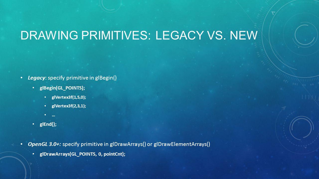 DRAWING PRIMITIVES: LEGACY VS.