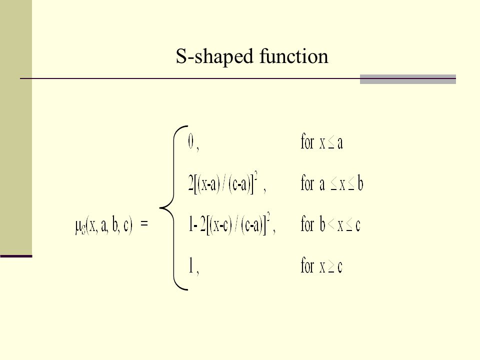 S-shaped function