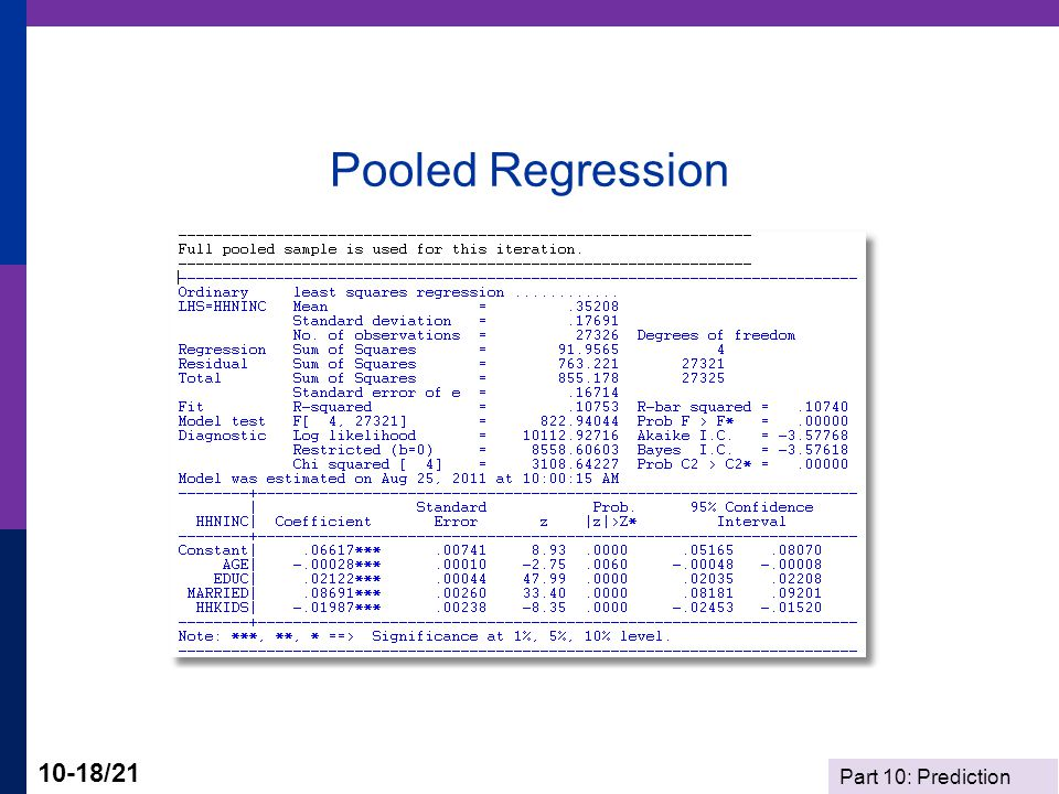 Part 10: Prediction 10-18/21 Pooled Regression