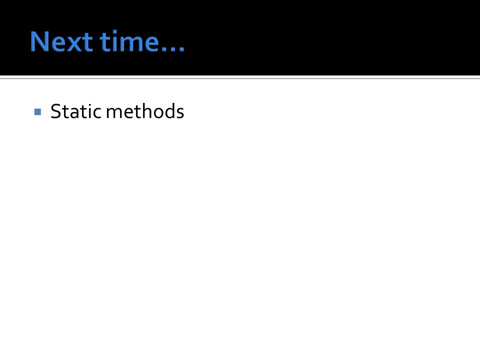  Static methods
