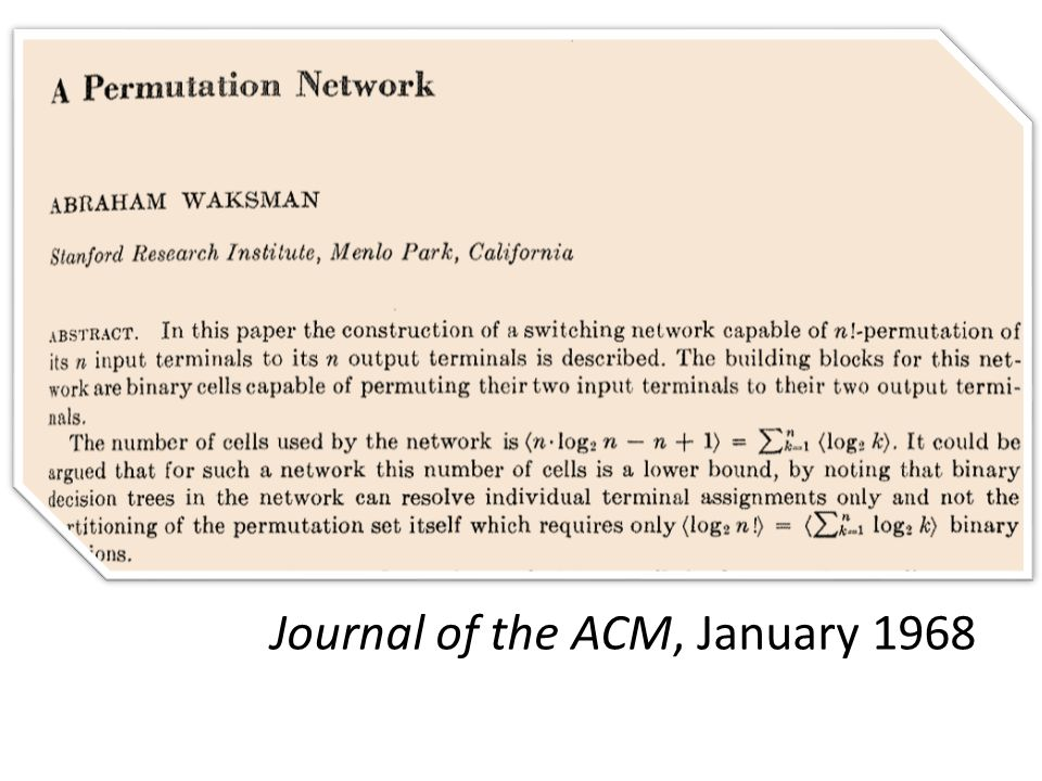 Journal of the ACM, January 1968