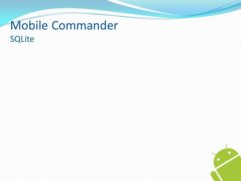 Mobile Commander SQLite