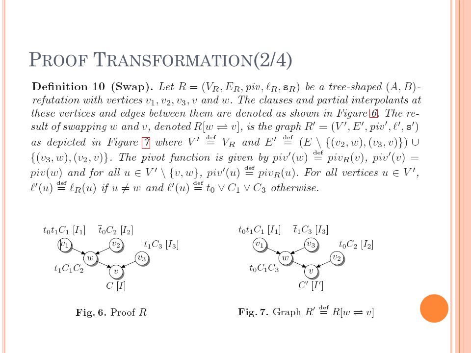P ROOF T RANSFORMATION (2/4)
