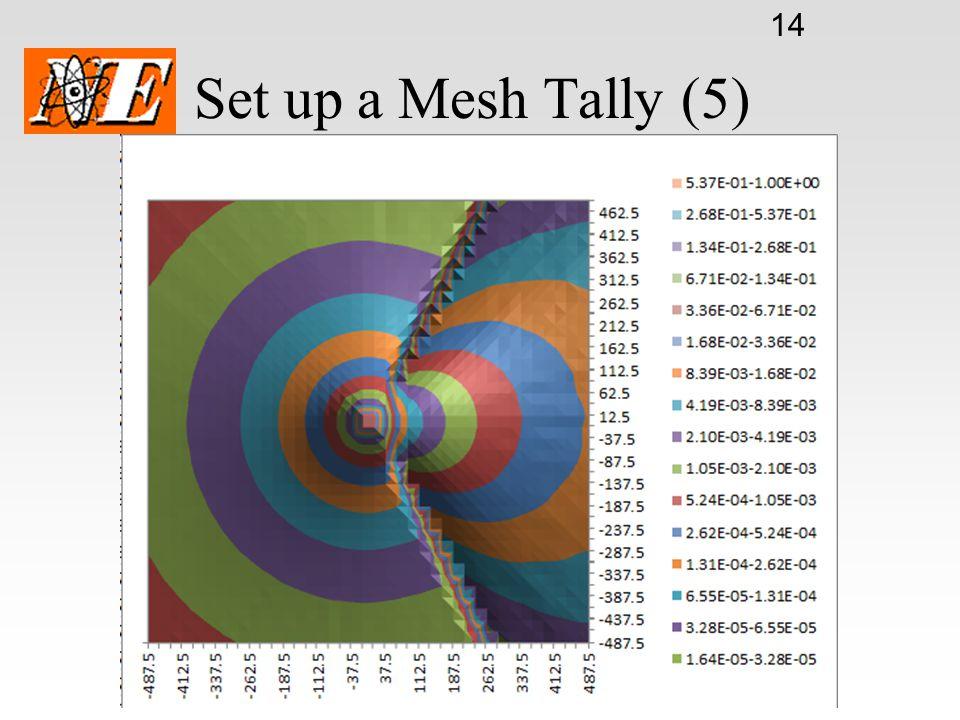 15 Set up a Mesh Tally (6)