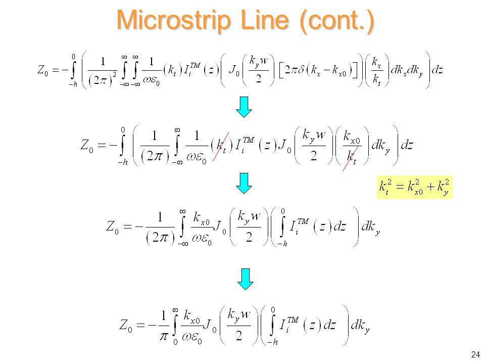 Microstrip Line (cont.) 24