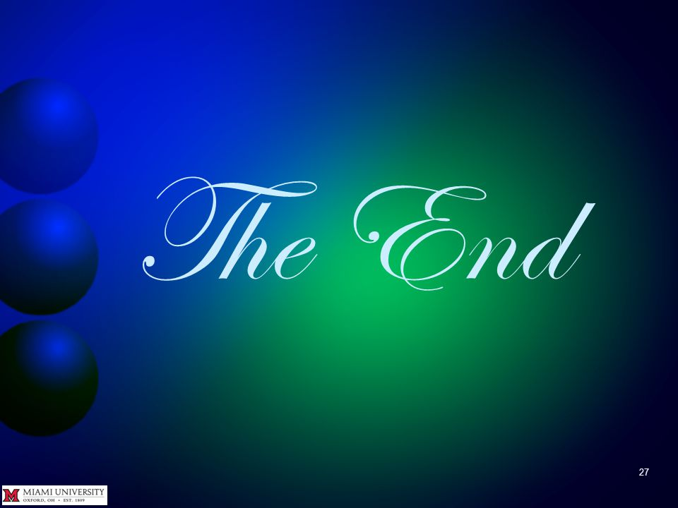 27 The End