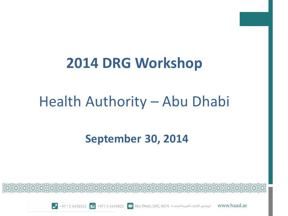 2014 DRG Workshop Meeting Minutes